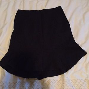 Mini skirt with flounce detail at bottom
